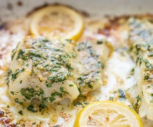 asparagus, bake, and lemon image