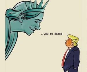 donald trump, america, and cartoon image