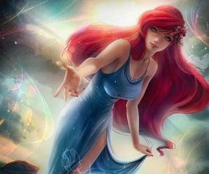 ariel, little mermaid, and redhair image