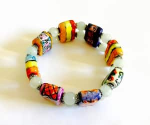 bright colors, yellow, and colorful beads image