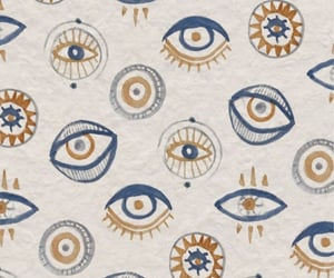 eyes, wallpaper, and blue and golden image