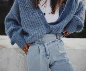 blogger, look, and blue denim jeans image