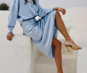 baby blue, blogger, and fashion image