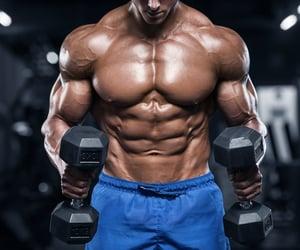 athletic, bodybuilder, and bodybuilding image