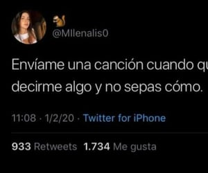 amor, canciones, and tweet image