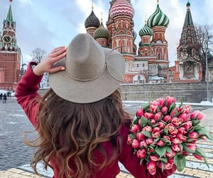 girl and moscow image