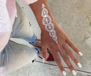 tatto, henna, and woman image