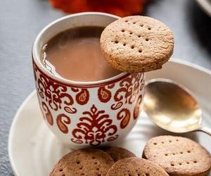 biscuits, milk, and vintage image
