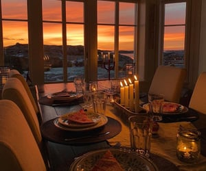 view, love, and dinner image