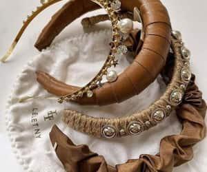 blingy jeweled hair pins, glittery headbands, and chunky headbands image