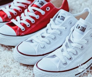 shoes, red and white, and white and red image