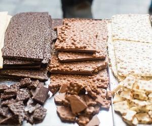 chocolate, food, and white chocolate image