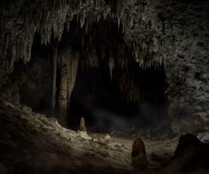 cave, horror, and dark image