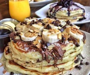 bananas, chocolate, and pancakes image
