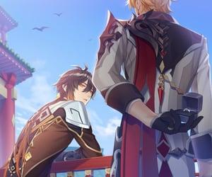 marriage, anime boy, and genshin impact image