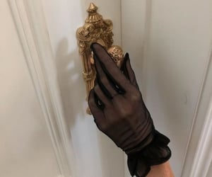 aesthetic, gloves, and gold image