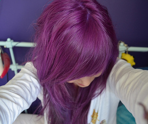 alternative, violet hair, and cute image