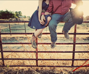 love, couple, and cowboy image