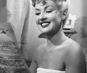 b&w, Betty Grable, and hair image