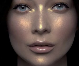 belleza, glitter, and maquillaje image