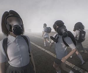Darkness, gas mask, and videogames image
