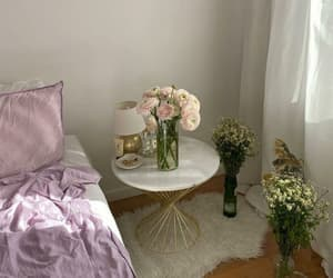 aesthetic, cozy, and flowers image