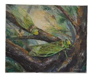 etsy, provence painting, and collectible cicada image