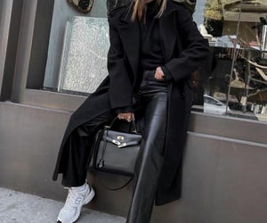 black coat, blogger, and fashion image