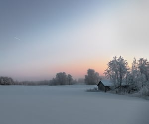 finland, nature, and sunset image