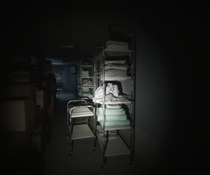 abandoned, blankets, and clutter image