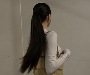 brunette, chanel, and hair image