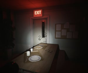 dark, exit, and hospital image