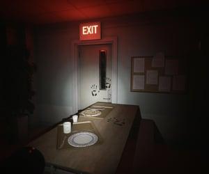 abandoned, dark, and trays image