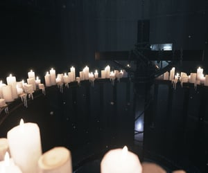 candles, melted, and chains image