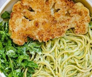 food, orange, and pasta image