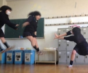 japanese girls, school girls, and vintage image