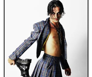 goth, plaid, and rock image