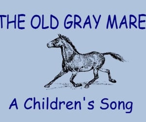 horse, think about it, and children's song image