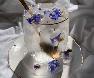 drink, flowers, and aesthetic image