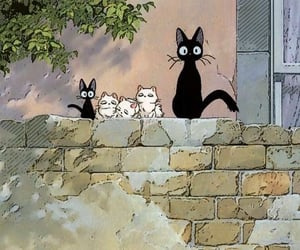 cat, anime, and kiki's delivery service image