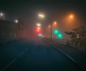lights, road, and aesthetic image