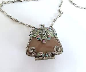 etsy, filigree, and necklace image
