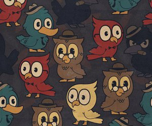 owl, background, and bird image