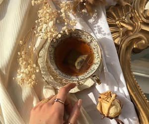 aesthetic, gold, and tea image