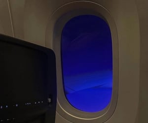blue, aesthetic, and airplane image