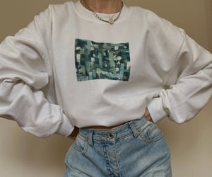 abstract, green, and pullover image