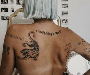 back, ink, and tatto image
