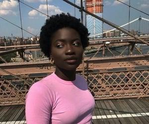 melanin, black woman, and short hair image
