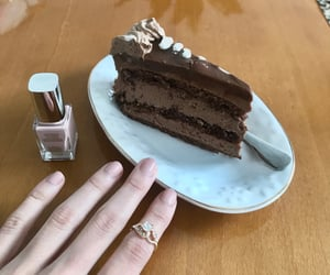 art, cake, and gold image