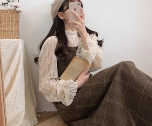 aesthetic, book, and clothes image